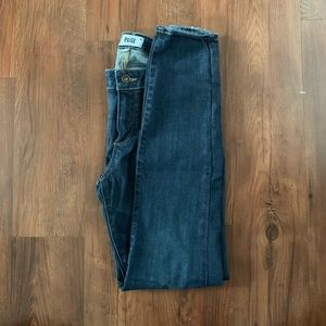 PAIGE high rise skinny jeans, size 30